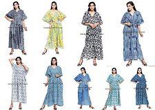 5 PC Wholesale Lot Long length Women Dress Boho Indian Cotton Caftan Gown Maxi