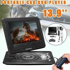Tragbarer DVD Player Drehbar 13.9 zoll Portable IR Fernbedienung Auto Kopfstütze