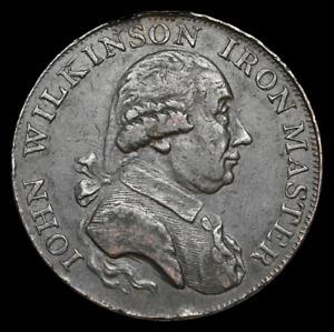 GREAT BRITAIN. Conder Halfpenny Token, 1792, John Wilkinson, Iron Master