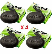 4 x Dudu Osun African Black Soap 150g For Eczema Acne Fungus (4 PACK)