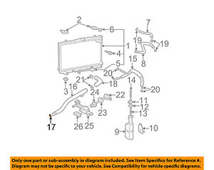 HYUNDAI OEM 06-11 Accent 1.6L-L4 Radiator-By-pass Pipe O-ring 2546223000