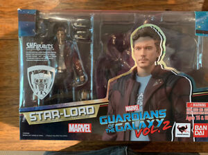 Marvel Bandai SH Figuarts GOTG Vol2 Star Lord w/ Explosion Pack Figure