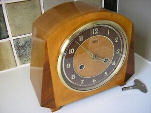 1950's RESTORED SMITHS STRIKING MANTLE CLOCK
