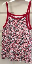Faded Glory red stars and blue hearts tank top size 8!!!