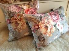 2er Set Landhaus Rosen Dekokissen, Kissenhülle rose, pillow cottage