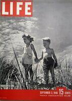Life Magazine September 2 1946 Cape Cod Children Cover Photo Oak Ridge