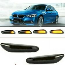 Dynamische LED Seitenblinker Blinker Schwarz Smoke für BMW E46 E60 E82 E90 E92