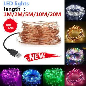USB LED String Lights Outdoor Waterproof Fairy Garland Lamp Decor Lighting
