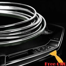 Silver 5M Edge Gap Interior Line Moulding Trim Molding Strip Decor For Car/Truck