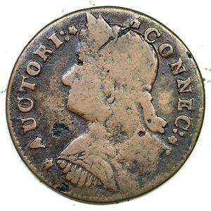 1787 33.2-Z.5 Connecticut Colonial Copper Coin