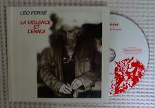 LEO FERRE La Violence Et L'Ennui La Memoire Et La Mer Hardcover Book CD Chanson