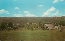 Glouster Ohio~Burr Oak State Park~Camping Tents Trailers by Lake~1950s Postcard