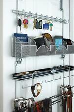 Longstem Men's Tie Belt Rack Accessory Closet Hanging Organizer Valet Silver