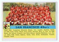 1956 Topps #26 San Francisco 49ers Team Card Near Mint