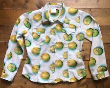 Authentic Christian Dior By Galliano. Kids Lemon Denim Shirt. White. Age 10