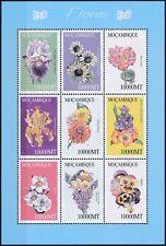 [I886] Mozambique 2002 Flowers good sheet very fine MNH