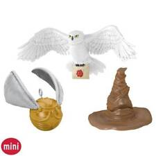 Hallmark A HARRY POTTER COLLECTION SET 3 Mini Ornaments 2016 Hat Hedwig Snitch