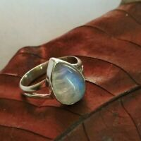 Moonstone Ring 925 Sterling Silver Ring Fine Jewelry Gift Her Teardrop Ring Gift