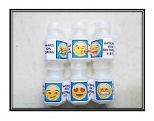 30 Emoji Birthday Bubble labels Stickers Party Favors Blue