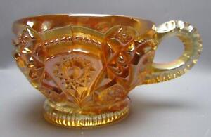 F092 Imperial FASHION Unmarked Marigold Carnival Glass Punch Cup