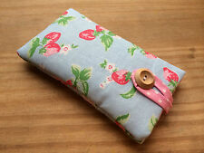 Padded Case for iPhone 6 / 6 Plus - Cath Kidston Mini Strawberry Blue Fabric