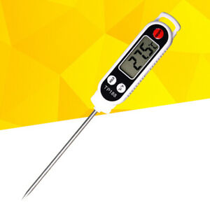 Meat Probe Thermometer for Grill Oven BBQ Outdoor Kitchen Large LCD Display