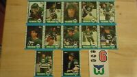 1989-90 Topps HARTFORD WHALERS Team Set - 13 Hockey Cards - Includes Insert Card
