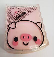 Lente de contacto de color rosa lechón Lentes Travel Kit-Espejo-Case-Pinzas
