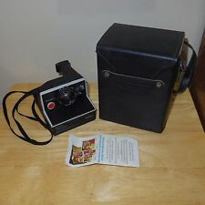 Vintage Polaroid Pronto Land Camera BC Series Black w/ Case Shoulder Strap Works