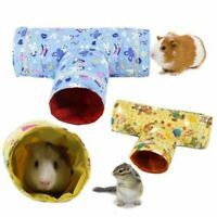 Small Animal Hamster Toy Tunnel Two Design Cartoon Print Guinea pig Rabbit Nest