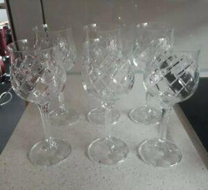 Crystal Wine Glasses 210ml 6pc full lead crystal 131.007 never used