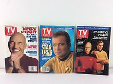 TV Guide Star Trek Lot William Shatner & Patrick Stewart ~ No Label