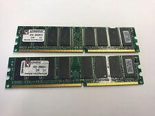 1GB (2X512MB) DDR 400MHz PC-3200 PC/MAC LOW DENSTITY NON-ECC MEMORY RAM 184pin