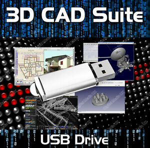 2D 3D CAD - AutoCAD DWG FILE COMPUTER AIDED SOFTWARE ENGINEERING MODELING ON USB