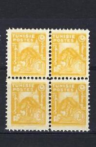 Tunisia 1944 Sc# 165 Olive tree 30c block 4 MNH