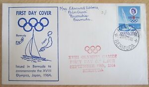 BERMUDA 1964 OLYMPIC GAMES SG183 UNOPENED FIRST DAY COVER.