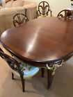 Antique Haentges Freres Dining Room Table Set