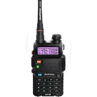 BAOFENG UV-5R Black Dual Band UHF / VHF Two Way Ham FM Radio + Free Earpiece