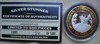 1 OZ  SILVER STUNNER TOKEN FAIRY LIM ED  54  OF 500 GOLD & SILVER