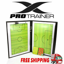 Magnetic Football Soccer Coach Coaching Aid Erase Clipboard Tactical Board