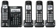 Panasonic DECT 6.0 Cordless Phone w/ Answering System Call Block and 4 Handsets
