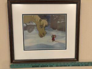 Disney Aristocats Production Animation Cel Roquefort The Mouse & Frou-Frou