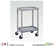Utility Cart Trolley Organizer Storage 2Shelf Tier Layer Wagon Rolling Salon Spa
