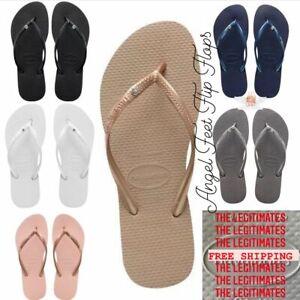Original HAVAIANAS Flip Flops Women Slim with crystal