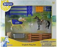 Breyer English Play Set Horse & Rider Toy Stablemates Series Model #6027