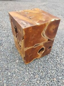 teak root block side table lamp table stool square wood coffee table solid wood