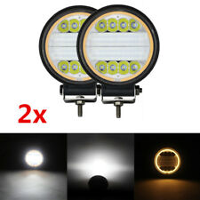 "Pair 4.5"" 96W Angle Eye LED Work Light Flood DRL Fog Lamp Marker Auto Boat ATV 2"