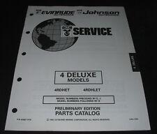 Parts Catalog OMC Evinrude Johnson 4 Deluxe Models Ersatzteilkatalog 08/1992!