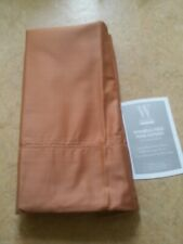 New Wamsutta Wrinkle-Free Pima Cotton Sateen 525 Tc Twin Size Flat Sheet Copper