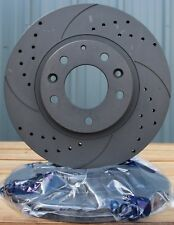 Graphite Sport Brake Discs Drilled Grooved A4 A5 Q5 07-11 330mm upgrade rear v
